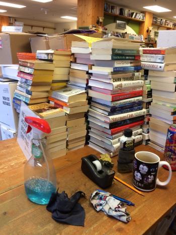Stack of Books Dec 2016